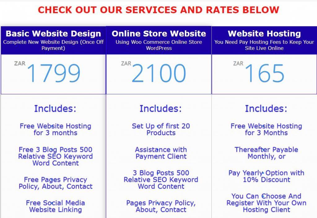 Affordable South Africa Website Design